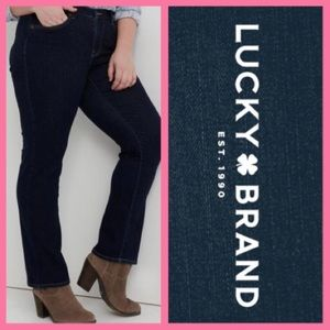High Waisted Black LUCKY BRAND 'Ginger' Boot Jeans